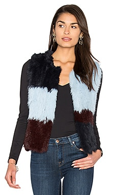 Patchwork Rabbit Fur Vest