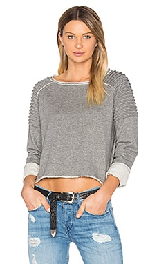 Unfnished Edge Sweatshirt en Charcoal