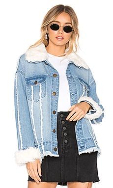 Mongolian Lamb Denim Jacket 525 america $195