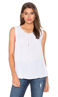 Crochet Tank in Bleach White