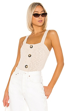 Square Neck Tank With Buttons 525 america $78 신상품