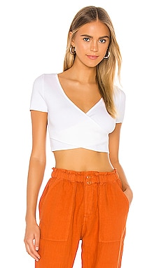 Cropped Surplus Cap Sleeve Top 525 america $78