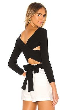 Cross Back Tie Pullover 525 america $88