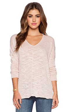 525 america Inside Out Seam V Neck Tunic in Pink Blush