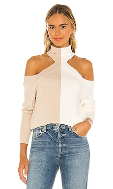 Contrast Cold Shoulder Top 525 $128