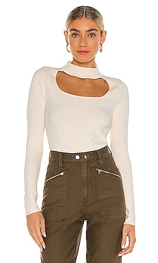 Cut Out Mock Neck Top 525 $73