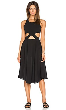 6 SHORE ROAD Diver's Midi Dress in Black Rock