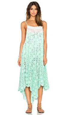 6 SHORE ROAD Southbay Lace Cover Up Dress in Mint Ombre