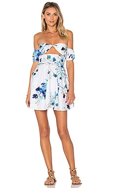 Day Break Dress in White Colombia Floral