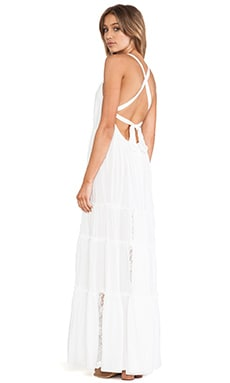Twin Isles Maxi Dress in Coconut