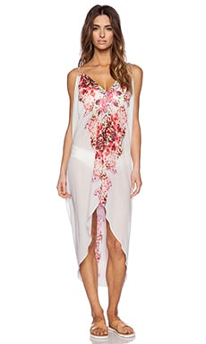 6 SHORE ROAD Carnival Cover Up in Mayan Pink Floral