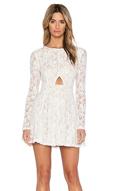 6 SHORE ROAD Aurora Lace Mini Dress in Moonlight White