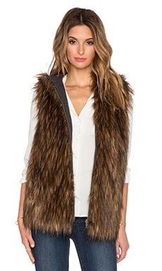 6 SHORE ROAD Hopi Reversible Faux Fur Vest in Fur