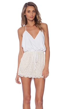 Malay Lace Romper in Moonlight