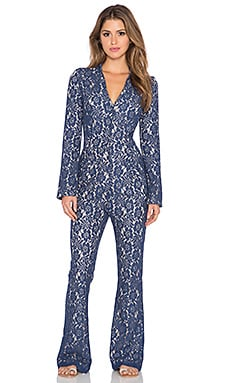 6 SHORE ROAD Sanctuary Lace Jumpsuit in Ocean