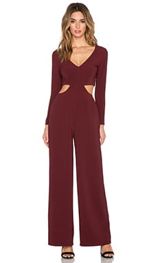 Crescent Jumpsuit en Bordeaux