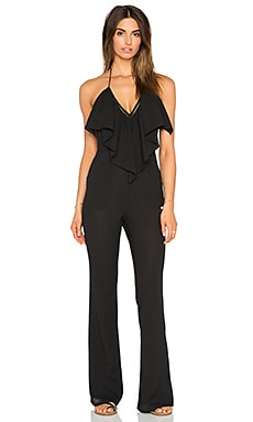Super 70's Jumpsuit in Black Rock