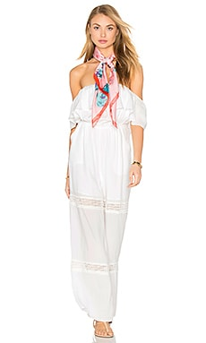 Paradise Lace Jumpsuit in Moonlight White