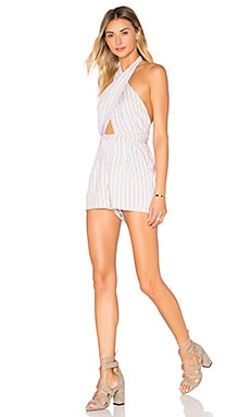 Cargo Wrap Romper in Multi Stripe