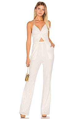 Globetrotter Lace Jumpsuit en Moonlight White