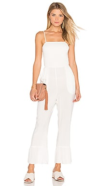 Seashell Jumpsuit in Moonlight White