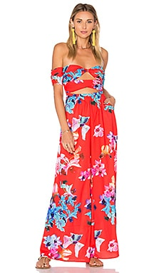 Bocagrande Jumpsuit in Red Columbia Floral