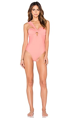 Cuba One Piece Swimsuit en Pêche