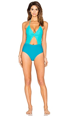 Divine One Piece Swimsuit in Teal