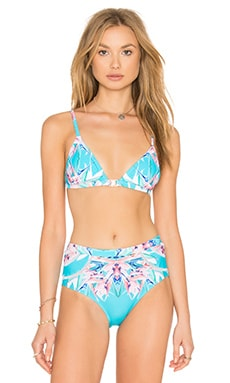 6 SHORE ROAD Miramar Bikini Top in Coco Floral