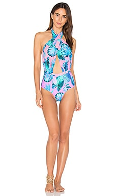 6 SHORE ROAD Cabana One Piece Swimsuit in Aegean Palms