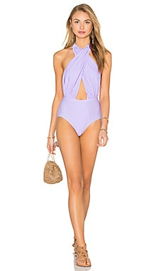6 SHORE ROAD Cabana One Piece Swimsuit in Lilac