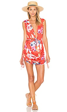 Travelers Cover Up Dress en Red Columbia Floral