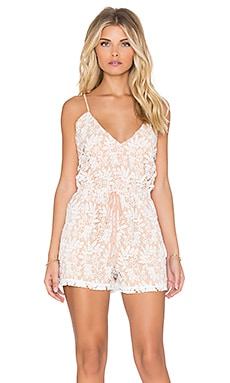 6 SHORE ROAD Weekender Lace Romper in Moonlight