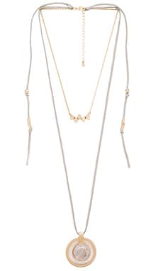 Wanderer Lariat in Gold & Teal