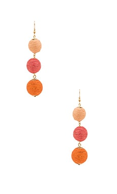 Amore Earring in Orange Ombre