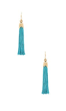Zoey Earrings in Teal