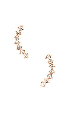 8 Other Reasons Omen Ear Cuff in Rhodium & A-Glass Stone