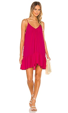St Tropez Ruffle Mini Dress 9 Seed $130 NEW
