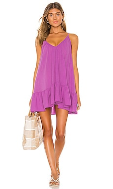 St Tropez Ruffle Mini Dress 9 Seed $130