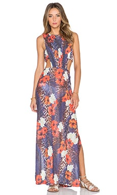 AGUADECOCO Paradise Maxi Dress in Print