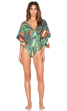 AGUADECOCO Banana Flower Brazilian One Piece in Multi