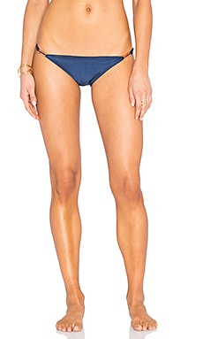AGUADECOCO Sky String Bikini Bottom in Blue