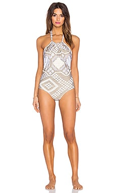 AGUADECOCO Embroidered One Piece in Ceara