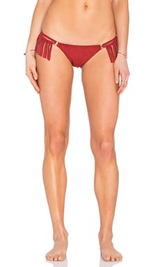 Fringe Bikini Bottom in Red