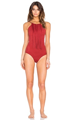 Fringe One Piece in Red