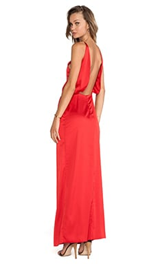 Assali Paola Long Dress in Red