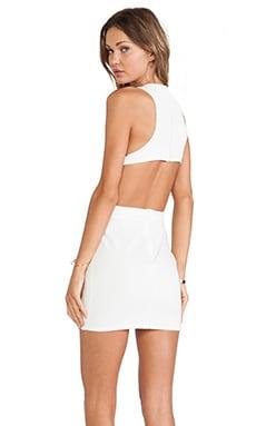 Assali Rake Mini Dress in Winter White