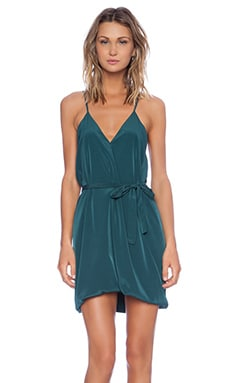 Lavinia Mini Dress in Forest Green