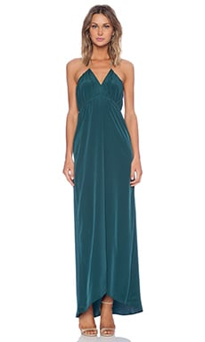Assali Livia Maxi Dress in Forest Green