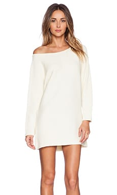 Chhatri Wool Sweater Dress in Cream